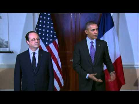 """Hollande à Obama: """"Amis, nous le sommes pour toujours"""""""