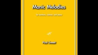 Manic Melodies: Nine Tchotchkes for baritone, clarinet, and piano (2015)