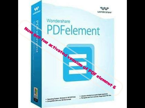 PDF Element 6 Activated Version With Download Link