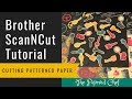 Brother ScanNCut Tutorial - Cutting Patterned Paper - Classic Garage dsp - Occasions 2019