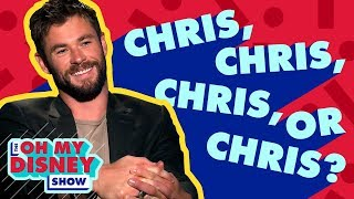 Chris Hemsworth Takes the Oh My Disney Chris Quiz   Oh My Disney Show