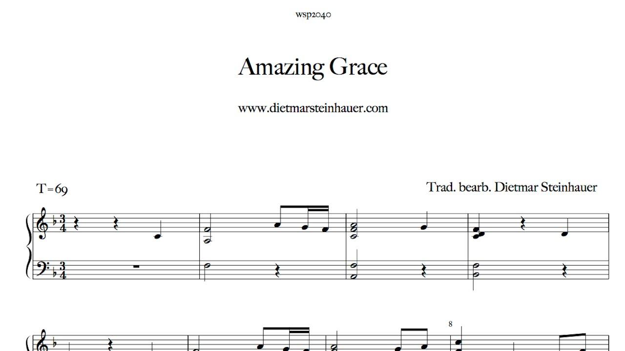 Amazing grace on piano youtube amazing grace on piano hexwebz Image collections