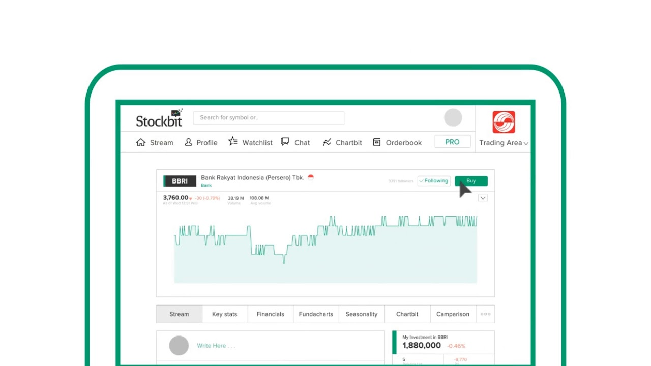 Cara Beli Saham di Web Stockbit dari Company Page ...