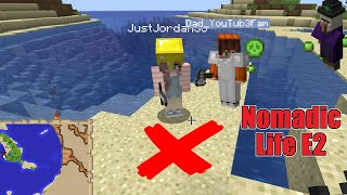 A Witch Almost Killed Us But We Found The Buried Treasure! Minecraft Nomadic Life E2