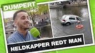 Heldkapper redt bejaarde man uit de gracht | DumpertTV Nazorg