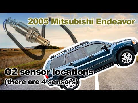 2005 Mitsubishi Endeavor O2 sensor locations (there are 4 sensors)