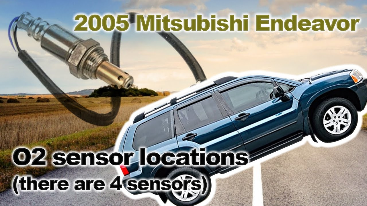medium resolution of 2005 mitsubishi endeavor o2 sensor locations there are 4 sensors
