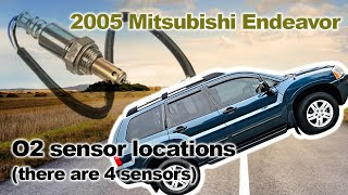 2005 Mitsubishi Endeavor O2 sensor locations (there are 4 sensors)