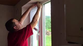 Установка Жалюзи Своими Руками. Как Повесить Жалюзи на Окно. (#Стройка Руками)