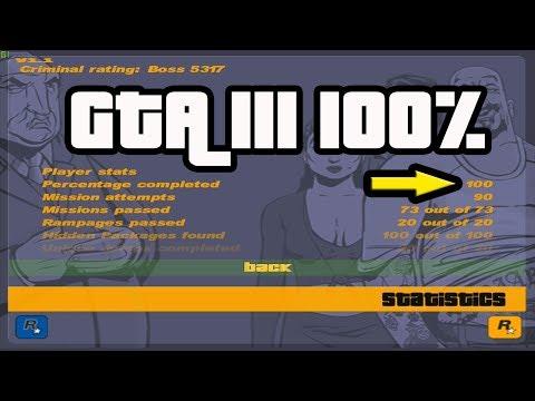 Что нужно для 100% прохождения игры GTA III?