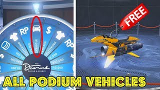 All Casino Lucky Wheel Podium Vehicles Revealed! (GTA 5 Casino Update)