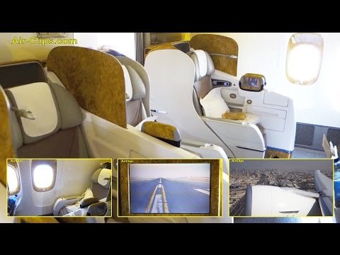 Emirates Airlines Boeing 777-300 Business Class Dubai-Beijing by [AirClips FullFlight series]