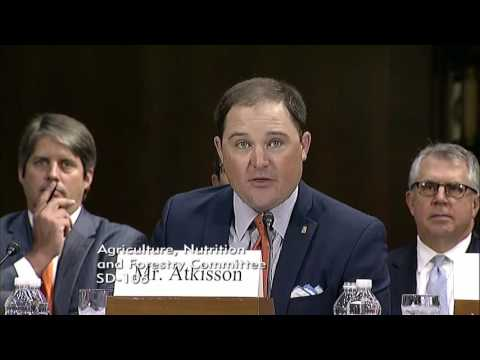 Kansas Sorghum Producer Dan Atkisson Testimony before the Senate Agriculture Committee