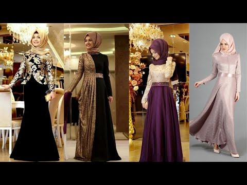 beautiful-gown-with-hijab-2020||gown-patterns-||-party-wear-hijab-style-dresses-||-glamico