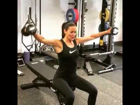 Kirsty Gallacher in gym