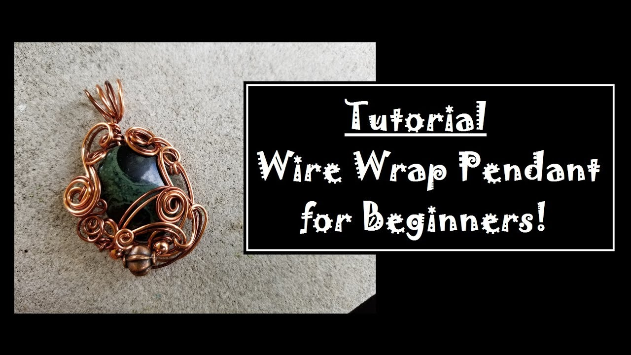 Beginners Wire Wrapped Pendant - YouTube