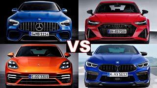 2021 Porsche panamera sport turismo vs Audi RS7 Sportback, AMG GT 4 door coupe & BMW M8 Gran Coupe.