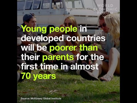 Young people in developed countries will be poorer than