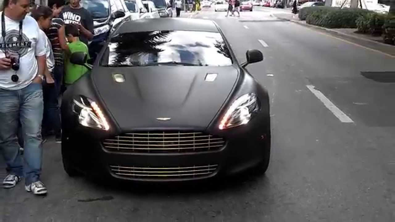 Meek Mill Aston Martin Matte Black With 24k Gold Plated