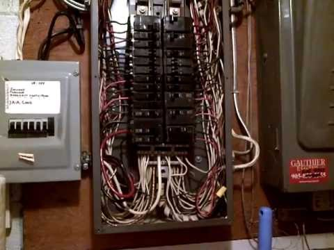 Old 200Amp Square D Sub Breaker panel Repairs 1 YouTube
