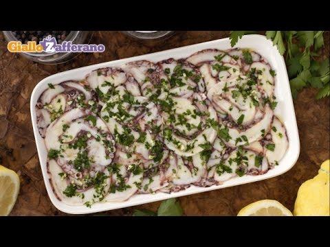 Octopus carpaccio – Italian recipe