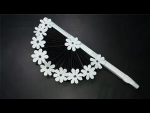 DIY paper craft how to make diy hand fan out of color paper