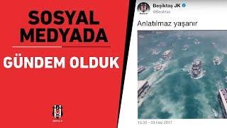 2017 yılının şampiyonu Beşiktaşımız, sosyal medya paylaşımlarıyla dünyada gündem oldu