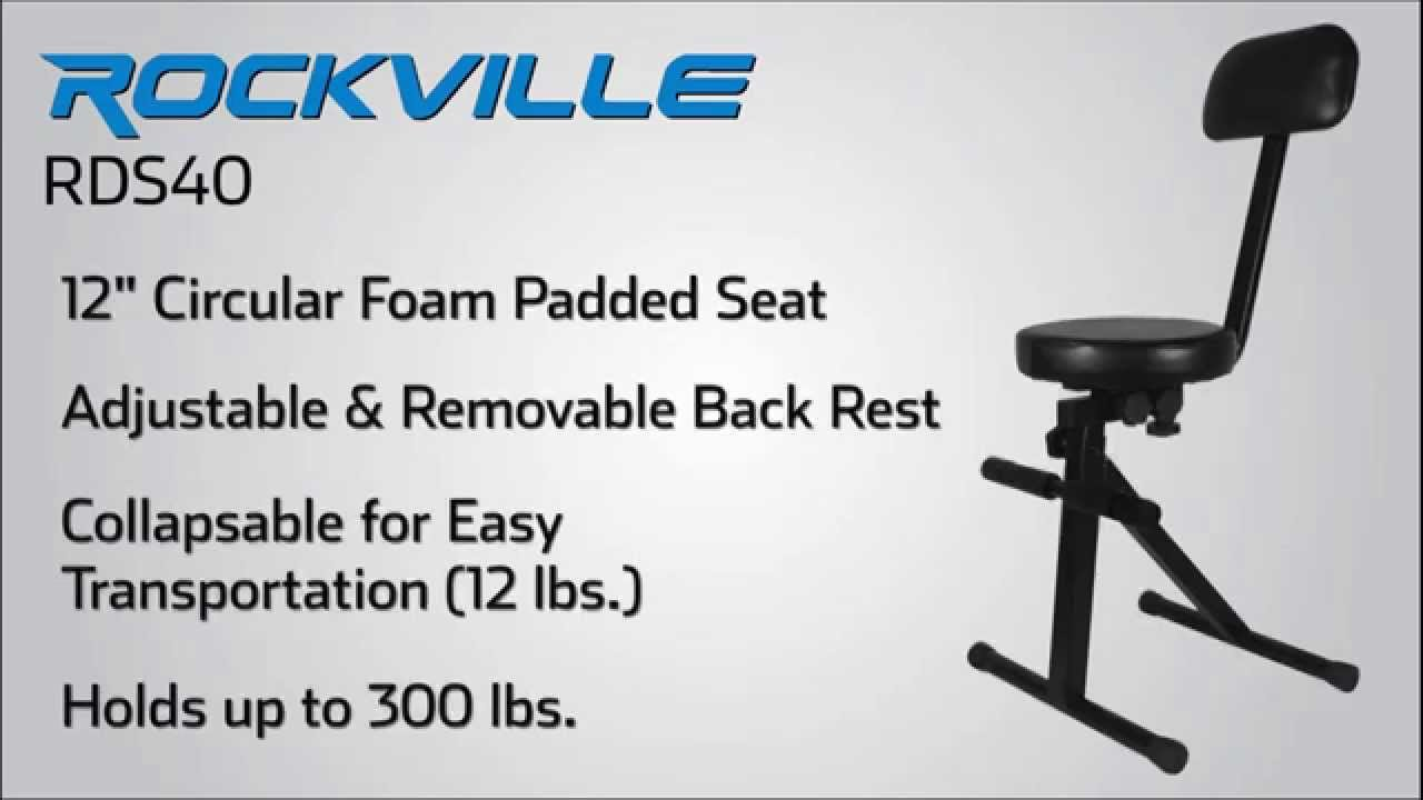 rockville rds40 12 portable performers chair w foam padded