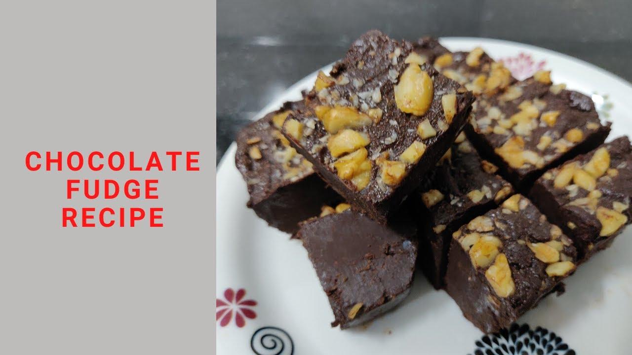 Chocolate Fudge Recipe without Condensed Milk | Quick and ...