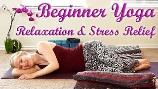 Bed Time Yoga Routine, Beginners Yoga For Relaxation #2, Stress Relief, Flexibility & Pain Relief