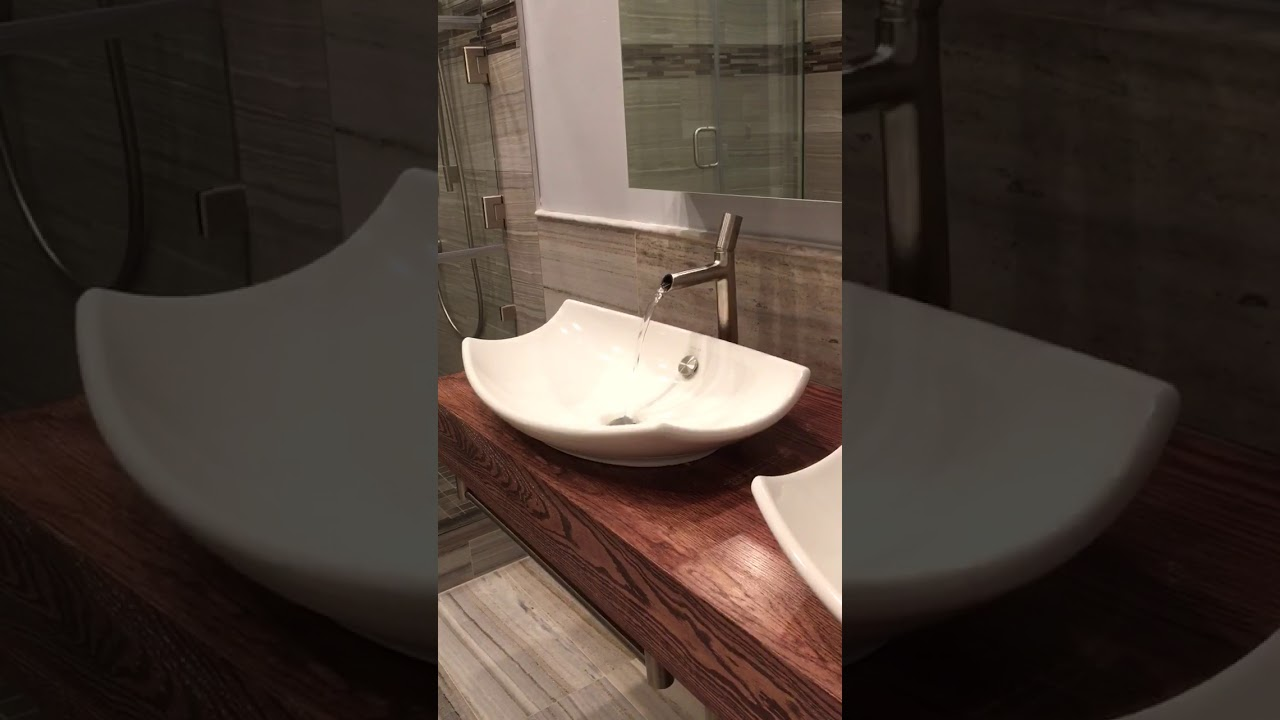 Kohler toobi vessel sink faucet and kohler leaf sink - YouTube