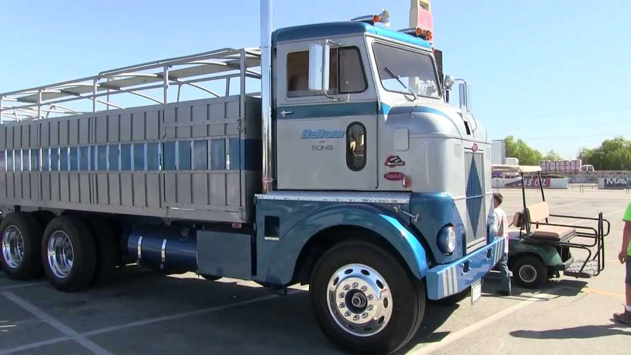 Listen To That Old Cummins 270 - DeBoer And Sons Peterbilt 350 COE At TFK  2013