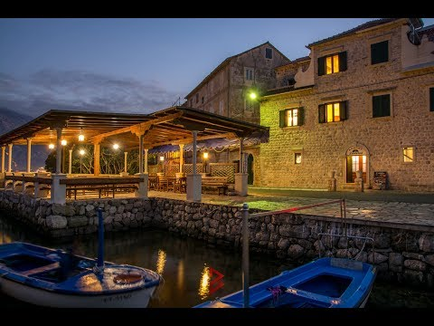 Small waterfront stone resort in Prcanj, Kotor - Property in Montenegro