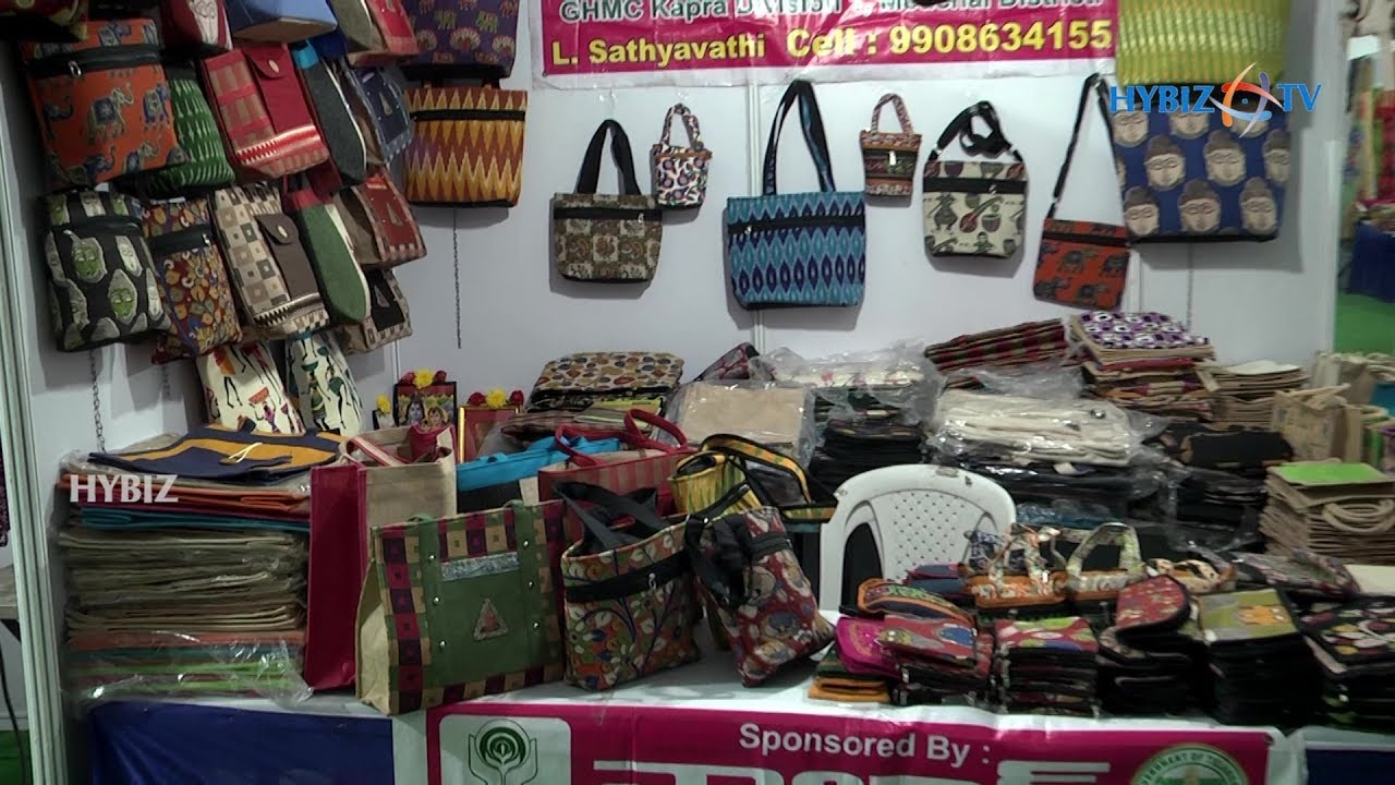 Jute Bags Golkonda Handicrafts Textiles Exhibition Youtube
