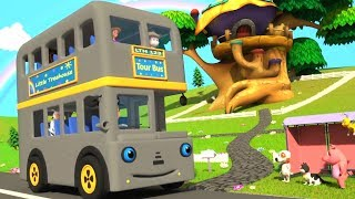 Колеса в автобусе | автобус песня для детей | мультфильм автобус рифмы | Wheels On The Bus