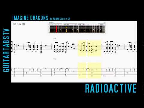 Radioactive - Imagine Dragons Fingerstyle Guitar Pro TABS