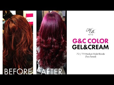 G C Hair Color Gel And Cream Presents 7 2 7 V Medium Violet