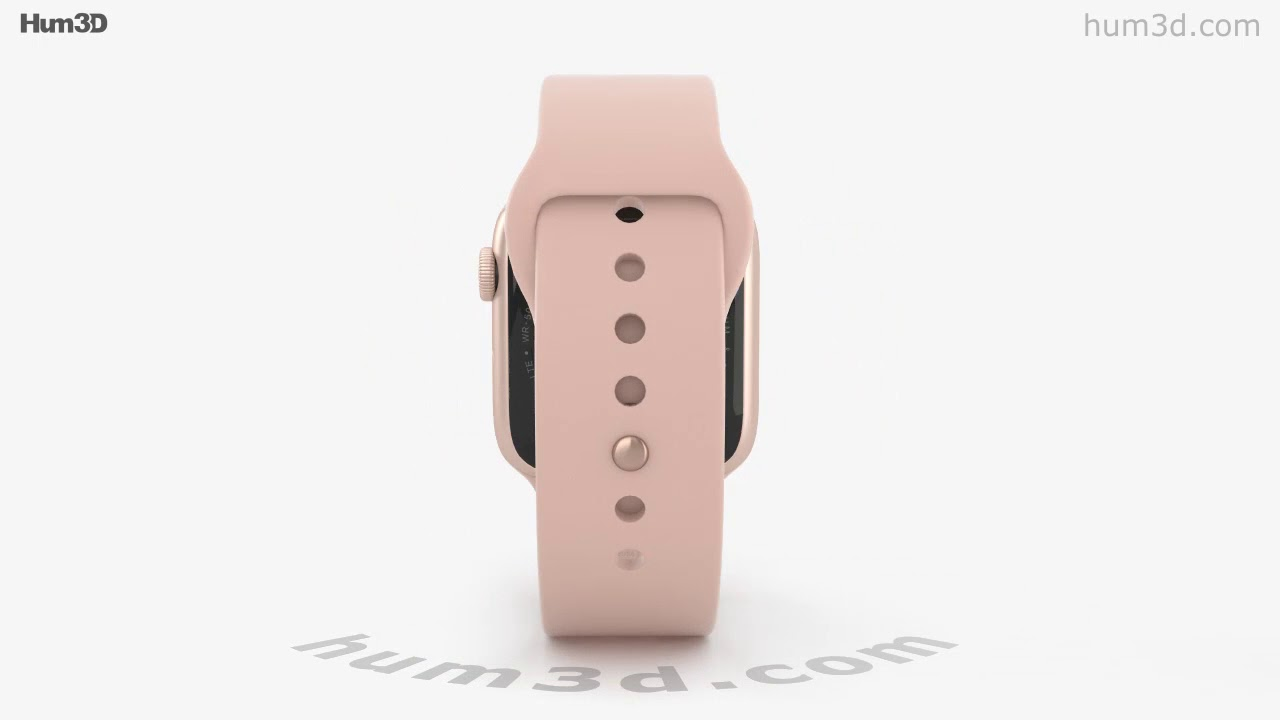 online store 36c32 5fd93 Apple Watch Series 4 44mm Gold Aluminum Case Pink Sand Sport Band 3D model  by Hum3D.com