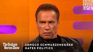 Arnold Schwarzenegger Hates Politics | The Graham Norton Show | Friday at 11pm | BBC America