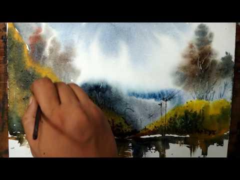 watercolor painting landscape watercolor painting | Art Explain