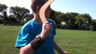 How to throw a boomerang by k and d