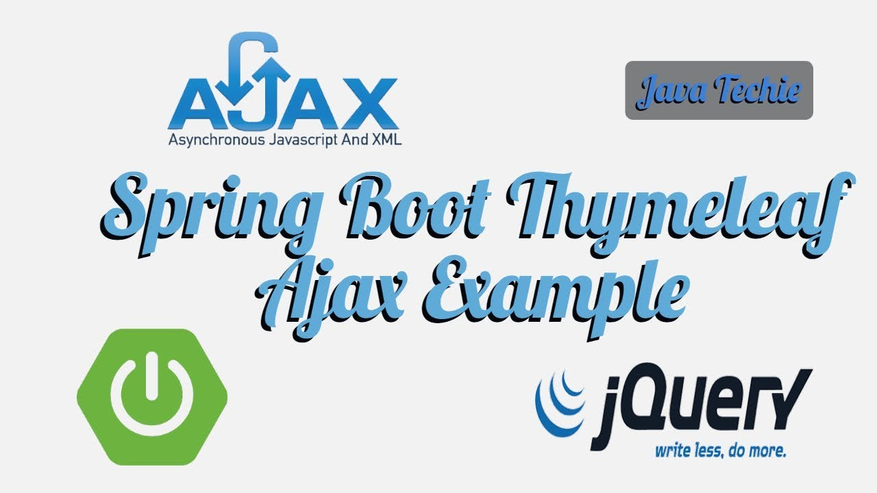 How to integrate JQuery Ajax POST/GET & Spring MVC | Spring Boot | Java  Techie