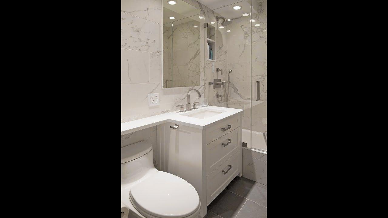 Contemporary NYC Apartment Bathroom Renovation Before After Shorts - Apartment bathroom renovation