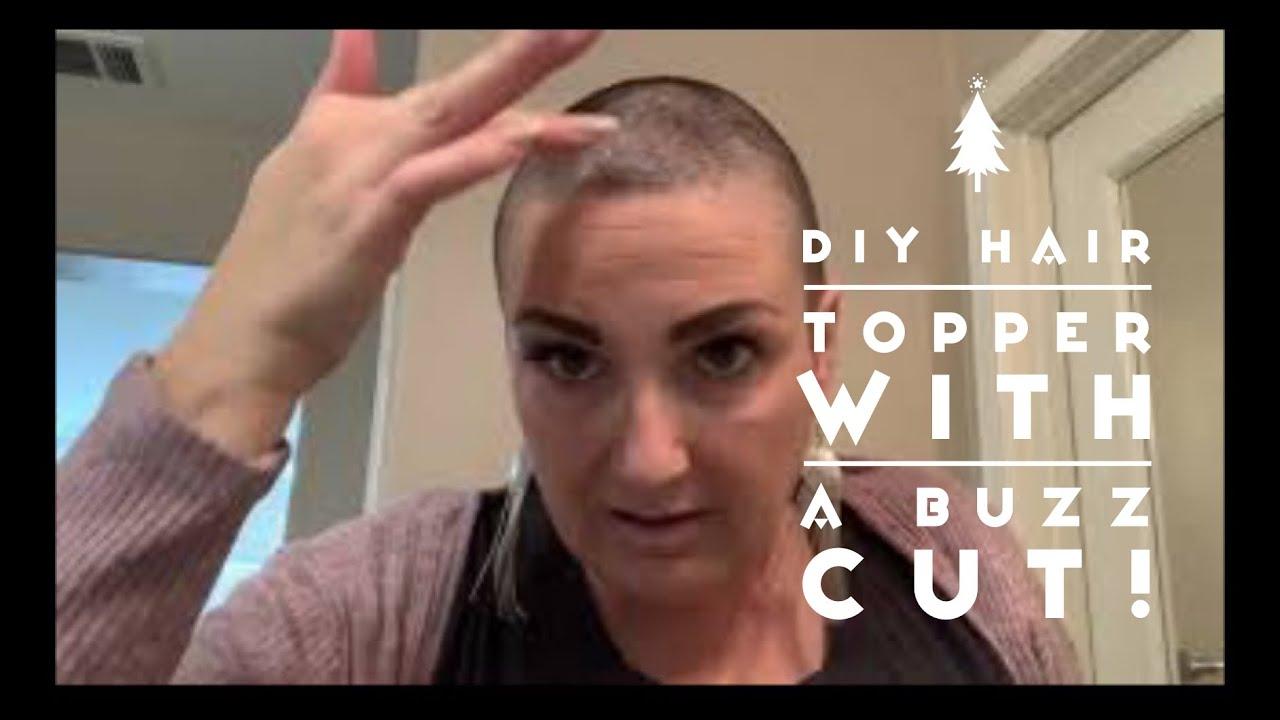 Hair topper with a buzz cut!!//asymmetrical pixie