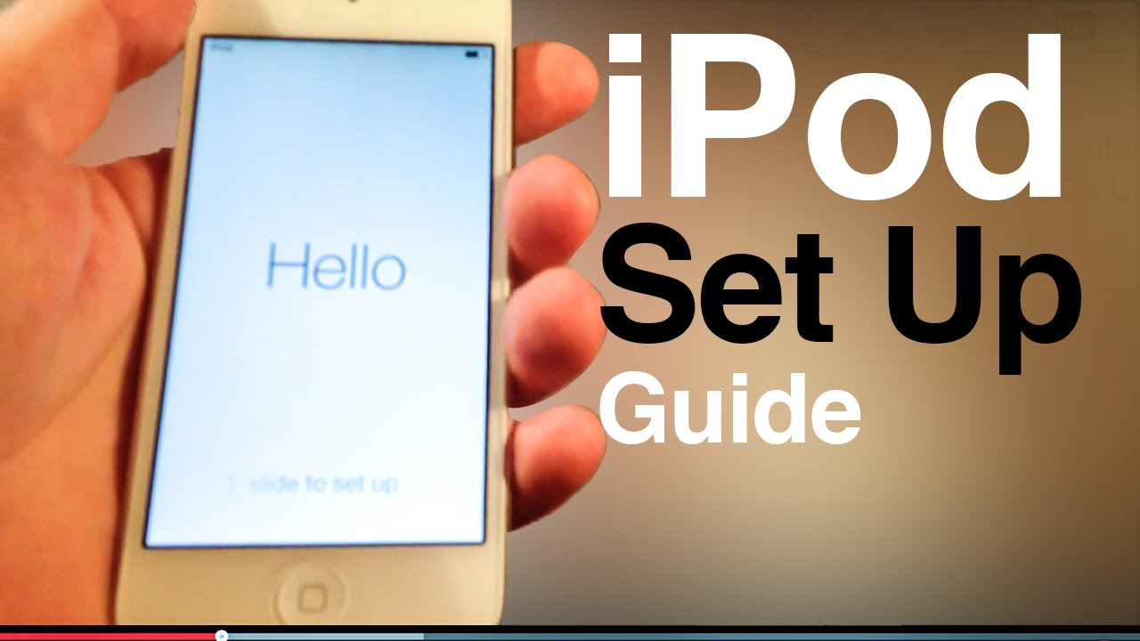 ipod touch user guide main set up first time turning on 5th gen rh youtube com ipod nano 4th generation features guide iPod Nano 5th Generation