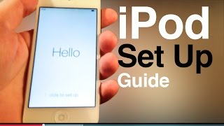 iPod touch user guide, main set up- first time turning on. 5th gen , 6th generation