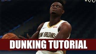 NBA 2K20 - DUNKING Tutorial: Eurostep, Spin, Reverse, 360, Hopstep, Jordan FT Line Dunks