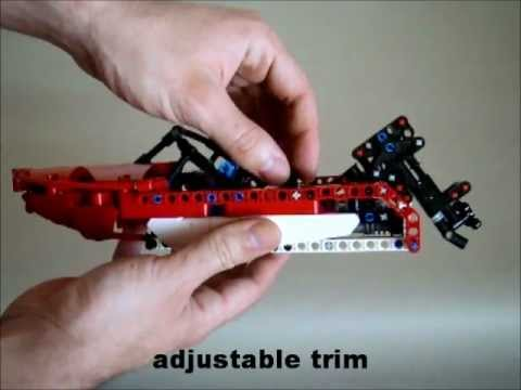 Tomik S Lego Motor Boat Built Out Of Set 8068 Youtube