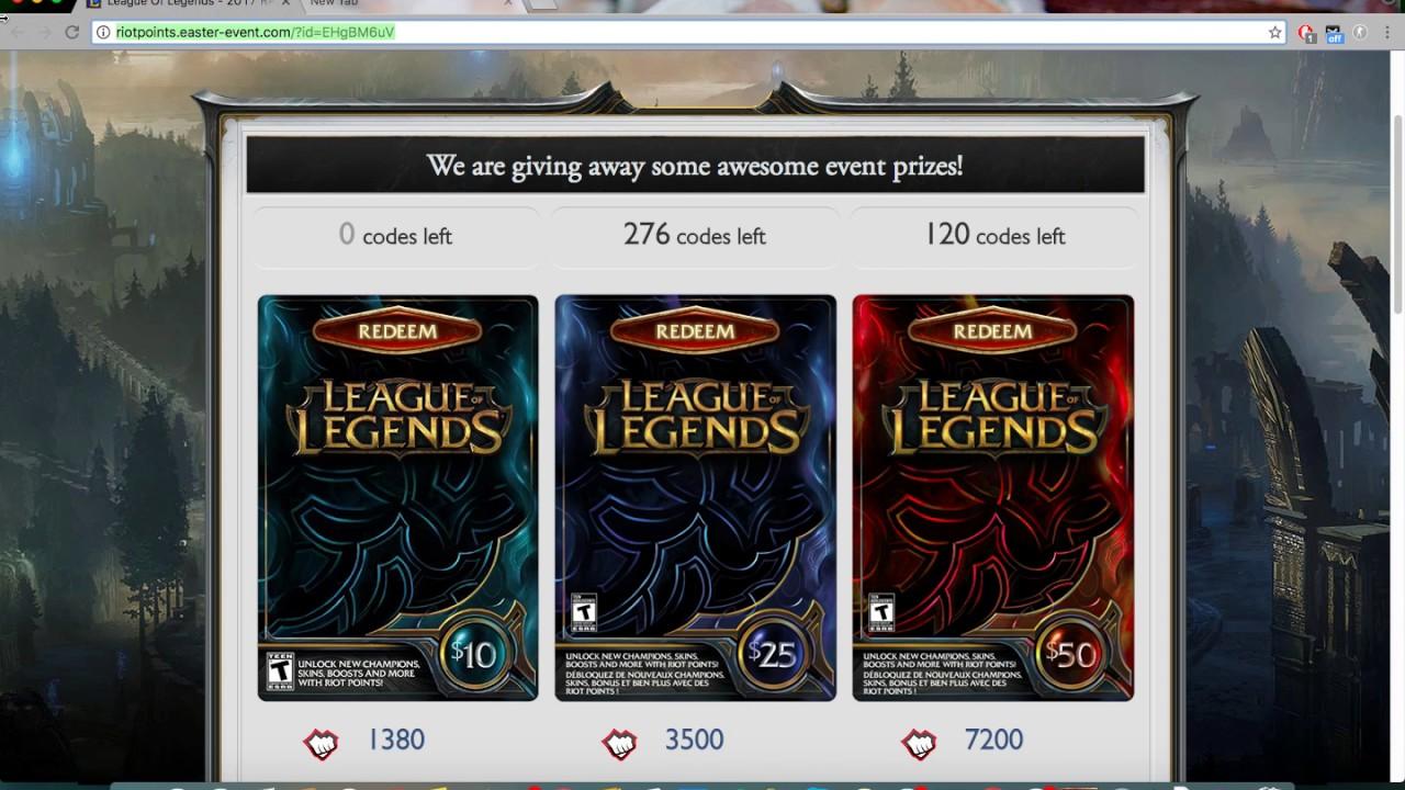 Free RP (2018) - League of Legends