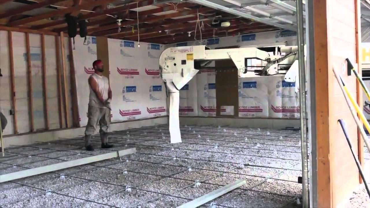 Concrete Floor In Existing Garage Youtube